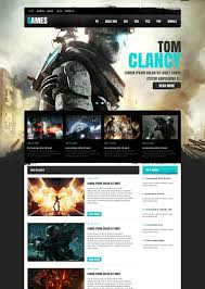 game portal website template with the admin panel motocms