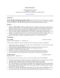 Sample Training Resume by Qlikview Developer Resume Resume For Your Job Application