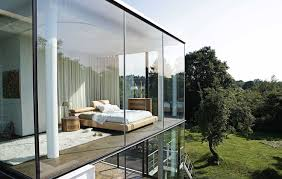 great home design architecture with glass walls panels combine