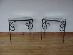 small wrought iron table small wrought iron console table with glass the death of wrought