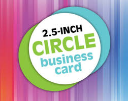 Round Business Card Circle Business Card Etsy