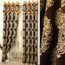 Chocolate Brown Shower Curtain Quality Chenille Brown Floral Jacquard Room Darkening Curtains