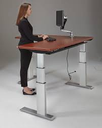 Computer Desk Adjustable Height by Furniture Corner Height Adjustable Standing Desk With Ikea Hacks