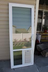 Diy Patio Doors Patio Door With Pet Built In How To Install A Doggie Sliding