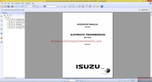isuzu n series automatic transmission 450 43le workshop manual