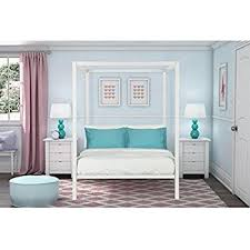 Metal Canopy Bed Dhp Modern Metal Canopy Bed White Kitchen Dining