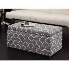 beautiful gray storage ottoman outstanding gray storage ottoman