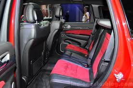 jeep interior seats jeep grand cherokee srt red vapor rear seat at the 2014 paris