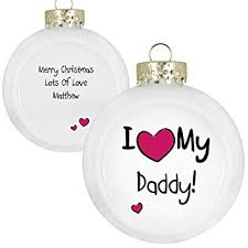 personalised i my flat sided bauble tree