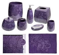 Purple And Gray Bathroom - purple bathroom accessories sets accelmodel