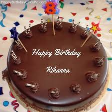 8th chocolate happy birthday cake rihanna