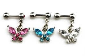 soar butterfly dangle ear piercing jewelry mybodiart