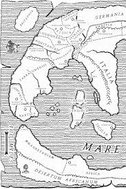 Roman World Map by From The Inkwell The World Through Roman Eyes