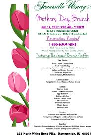 Mother S Day 2017 Flowers by Tomasello Winery Mother U0027s Day Brunch Menu