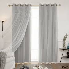 Gray And White Blackout Curtains Home Mix And Match Blackout Blackout Curtains Panel Set 4