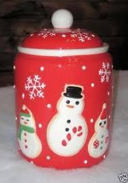 christmas cookie jar ebay