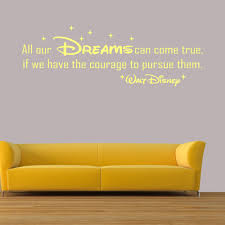 disney quotes wall art stickers bedroom decals all our dreams walt