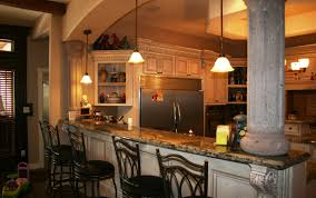 top kitchen ideas bar kitchen furniture appealing glazed brown wood tile bar top