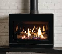 gazco riva2 f670 glass balanced flue lpg gas stove with black