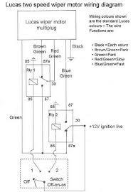 wiring a lucas 2 speed park wiper