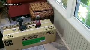 mitsubishi mini split floor unit 1 5 ton mitsubishi ductless heat pump install youtube