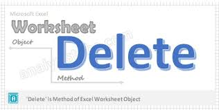 delete worksheet method vba explained with examples