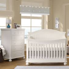 Crib White Convertible by Sorelle Finley 2 Piece Nursery Set Crib And 6 Drawer Dresser