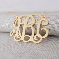gold monogram initial necklace shop initial necklace on wanelo