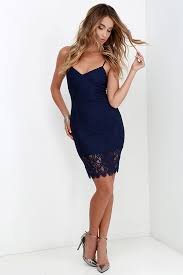 figment of fascination navy blue lace bodycon dress bodycon