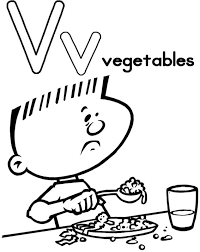free vegetables alphabet coloring pages alphabet coloring pages