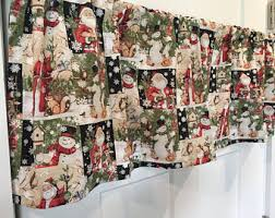 Snowman Valances Tan Cream Valance Etsy