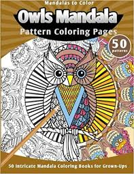 amazon mandalas color owls mandala pattern coloring pages