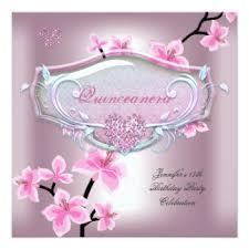 girls 15th quinceanera birthday invitations u0026 announcements