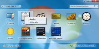 horloge bureau windows 7 restaurer les gadgets du bureau installés avec windows protuts