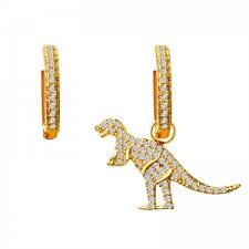 dinosaur earrings allencoco pearl earring 208133 allencoco