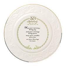 anniversary plate belleek 50th anniversary plate 8 6 home kitchen