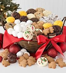 holiday cookie basket christmas pinterest cookie baskets