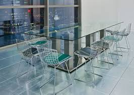 Contemporary Boardroom Tables Contemporary Boat Shaped Transparent Glass Conference Table Solid