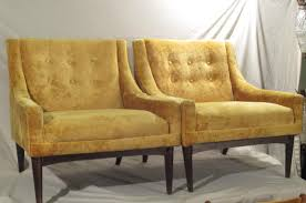 Yellow Velvet Armchair Sold 2 Yellow Crush Velvet Club Chairs