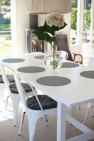 214 best kitchen and dining images on pinterest live white and grey minimalist scandinavian dining table the practical rubber placemats are made by Orskov
