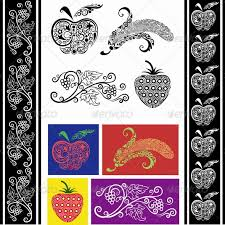 fruit ornaments drawing drawing ornament and symbols