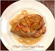 sweet little bluebird maple baked apple chicken