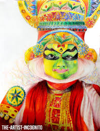 colors of india kathakali by the artist incognito on deviantart