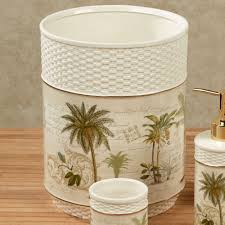 colony palm tree tropical bath accessories