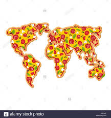 Geography Map World Map Pizza Continents Of Planet Earth Fast Food Geography