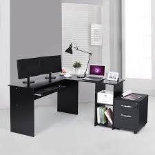 Schreibtisch Buchefarben Songmics Eckschreibtisch Schreibtisch Große Computertisch