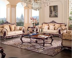 Luxury Wooden Sofa Set Classic European French Style Luxury Wood Living Room Furniture