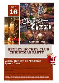 Christmas Party Ticket Christmas Party Henley Hockey Club