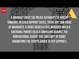 Bench Warrant Procedures What Is A Warrant For Child Support Youtube