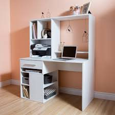 Home Office Computer Desk With Hutch by South Shore Annexe Home Office Computer Desk Pure White Home